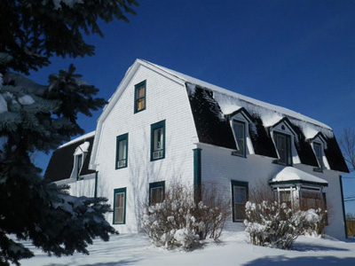 Doucet Hennessy House in Winter - Maison Doucet Hennessy en hiver