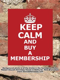 Keep Calm and Buy a Membership